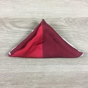 Nordstrom Red & Burgundy Pocket Square